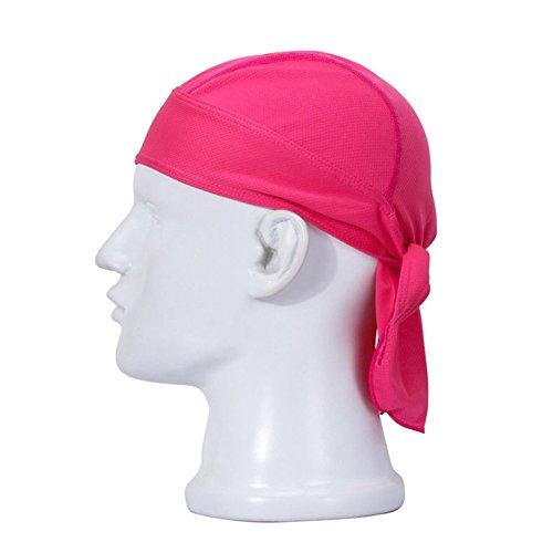 Koolip Adjustable Sweat Beanie Bandana Head Wrap-Bicycle Running Mask Doo Rag Skull Cap-Bike Motorcycle Head Wrap Scarf for Men Women (Hot -