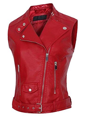 Zipper Leather Vest - 4