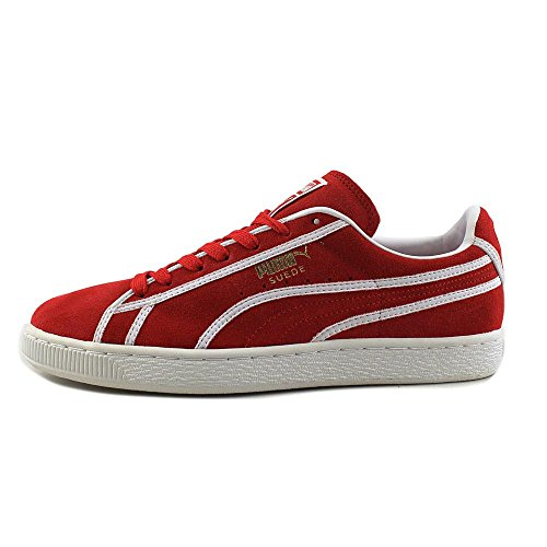 Puma Mens Suede Courtside Binding High Risk Red 11 wiki shopping online 8yD0F