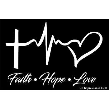 Amazon Faith Hope Love Pink 6 X 4 Die Cut Decal Bumper