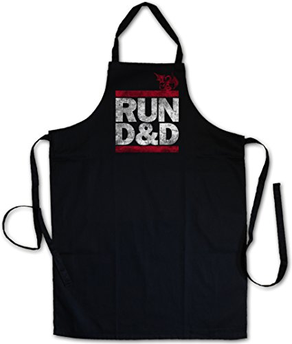 RUN D&D BARBECUE BBQ COOKING KITCHEN GRILLING APRON