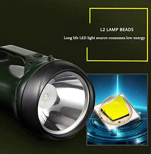 XBR Rechargeable LED Flashlight Searchlight 15W High Power Portable Lamp 2 Modes Torch Built-In 3000 Ma Lithium Battery Torches