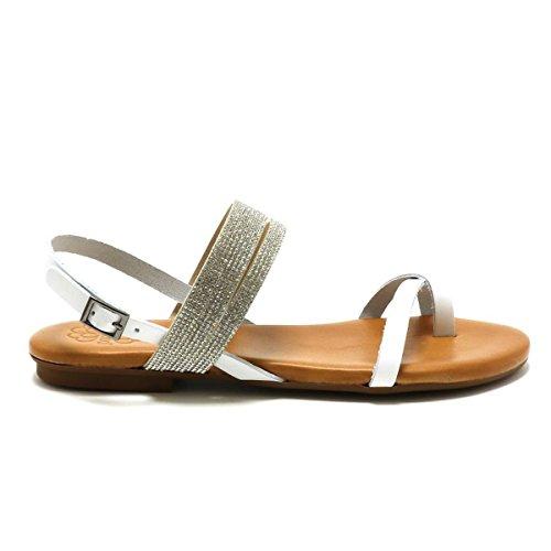 Blanco Mujer de Zapatillas Porronet de Piel Deporte Otra 8x7w4waqAn