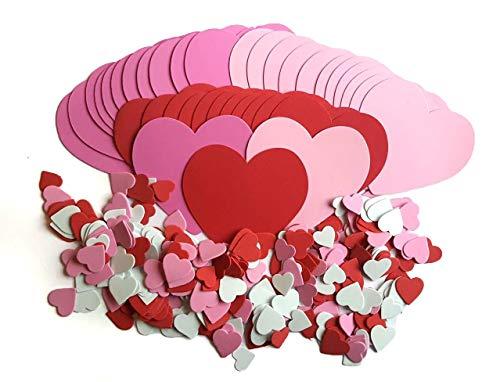 (336 Piece Foam Heart Shape)