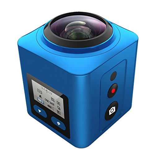 SEREE 4K 360 Degree Panoramic VR Driving Sports Action Camera Ultra HD Waterproof Underwater 3D Wifi Mini DV Player Camcorder