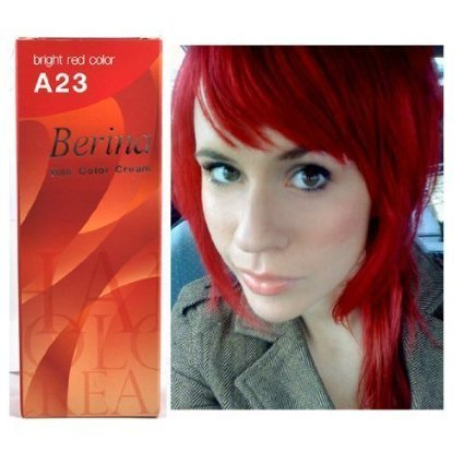 Bright Red Hair Dye Color Cream Permanent Goth Punk Crazy Emo Fashion Salon