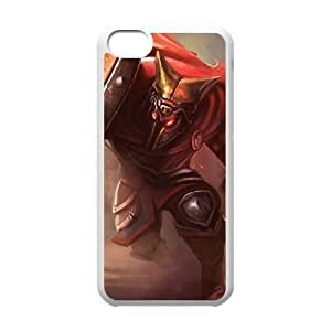 iPhone 5c Cell Phone Case White League of Legends Glaive Warrior Pantheon LM5635678