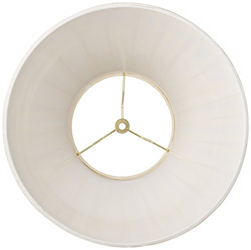 Creme Linen Box Pleat Lamp Shade 7x14x11 (Spider) by Springcrest (Image #2)'