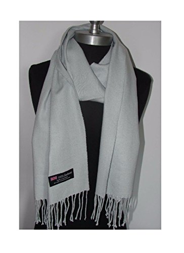 Silver Grey_Scotland Wool (US Seller)Scarves Warm THICK WINTER Scarf SOLID (Bases De Rap Halloween)