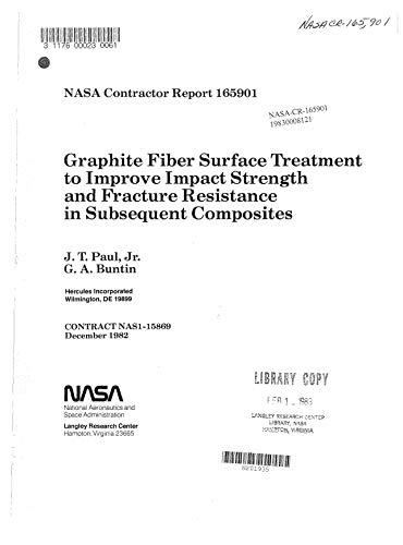 - Graphite fiber surface treatment to improve impact strength and fracture resistance in subsequent composites