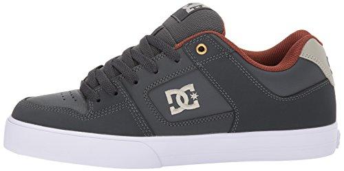 Gris De Hombres Dc Zapatillas Skate Slim Para Pure 0g0wFqtH
