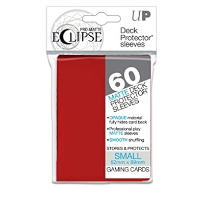 Ultra Pro 85830 Eclipse Small Pro Matte (60 Pack), Apple Red: Toys & Games