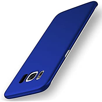 Samsung Galaxy S8 Case, YIHAILU Smoothly Shield Hard Cover Skin Shockproof Scratch Resistant Full Body Protective Ultra Thin Slim Case 5.8 Inch (Silky Blue)