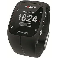Polar Men's M400 90051091 Black Silicone Quartz Watch