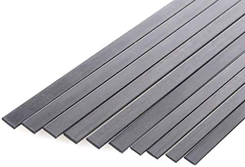 Wzqwzj Carbon Fiber Plate Thick 3mm,Width 15mm,for Airplane Models 500mm Length
