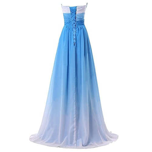 Sweetheart Line Ombre Dresses Beaded Chiffon Long Evening Prom Formal A Lemai Blue Gradient xUPwXX