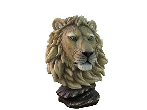 African Lion Table Bust By DWK | Safari Wildlife Serengeti Statue And Sculpture Home Decor