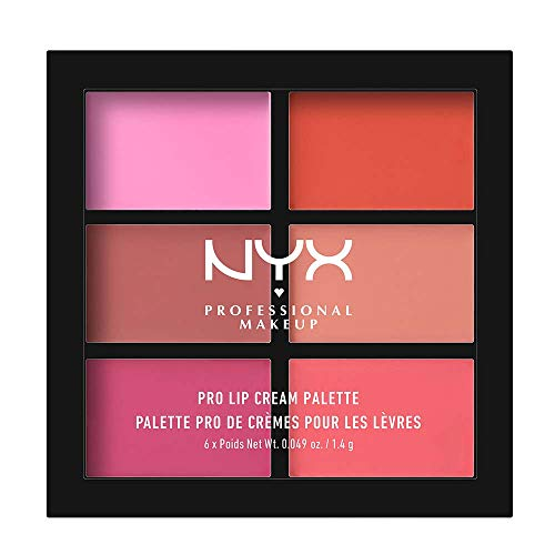 NYX PROFESSIONAL MAKEUP Pro Lip Cream Palette, The Pinks, 0.317 Ounce