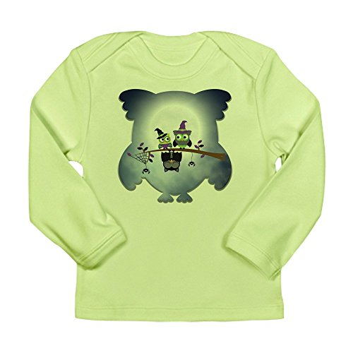 Truly Teague Long Sleeve Infant T-Shirt Little Spooky Vampire Owl With Friends - Kiwi, 18 To 24 -