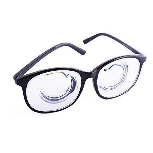 Sexy Girls Strong Myopic Glasses 1.56 Refractive index Hard Resin Lens Black Frame Thick Lenses Meganekko Cosplay Outfit(Degree ()