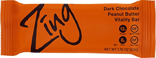 Zing Vital Energy Nutrition Bar, Dark Chocolate Peanut Butter, (12 Bars), High Protein, High Fiber, Real Dark Chocolate Review