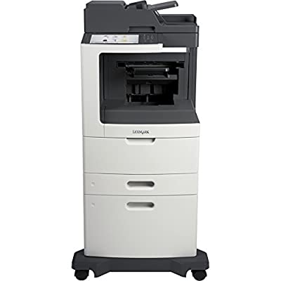 Lexmark MX812DXFE Laser Multifunction Printer - Monochrome - Plain Paper Print - Desktop - Copier/Fax/Printer/Scanner - 70 ppm Mono Print - 1200 x 1200 dpi Print - 70 cpm Mono Copy - Touchscreen - 600 dpi Optical Scan - Automatic Duplex Print - 2750 sheet