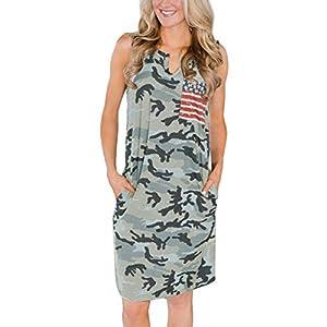 Camo Tank Dress with Pocket