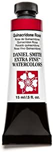 Daniel Smith Extra Fine Watercolor 15ml Paint Tube, Rose, 15 ml