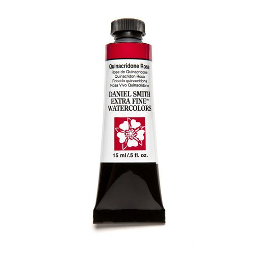 Price comparison product image Daniel Smith Extra Fine Watercolor 15ml Paint Tube, Quinacridone, Rose