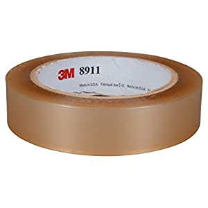 "3M 92756 Polyester Tape 8911, 3/4"" x 216 yd, Transparent"