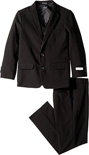 Calvin Klein Kids Boy's Bi-Stretch Three-Piece Suit (Big Kids) Black 10 by Calvin Klein