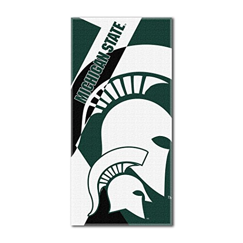 The Northwest Company Officially Licensed NCAA Michigan State Spartans Puzzle Beach Towel, 34