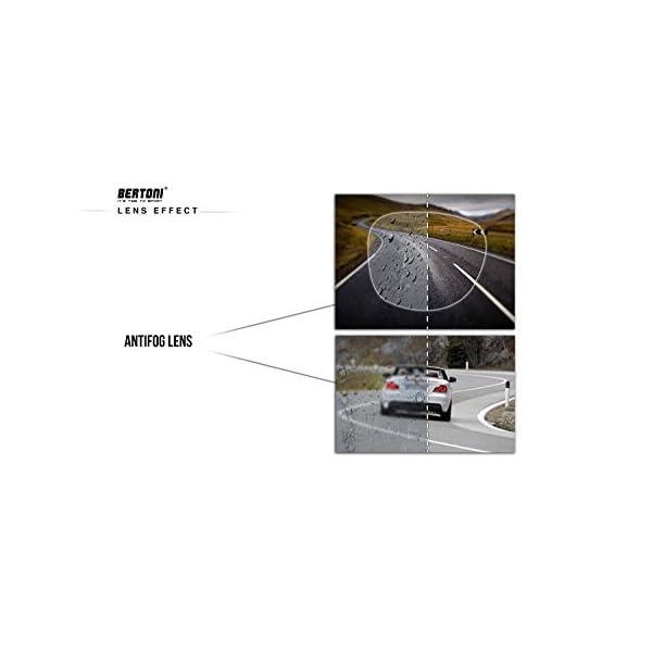 Bertoni Occhiali Sportivi da Vista Graduabili Antivento Avvolgenti per Ciclismo Running Moto Sci Skydiving Tennis - Aste… 5 spesavip