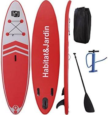 habitatetjardin Paddle Sup Wave A3-305 x 75 x 10 cm - Rojo: Amazon ...