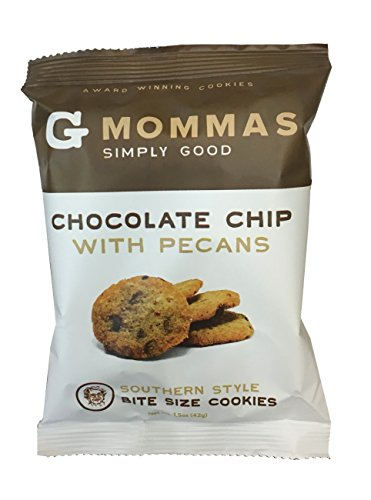 Chocolate Chip Pecan Cookies, 8 Pack Snack Size Bags. 1.5 Oz. Chewy Gourmet Cookie
