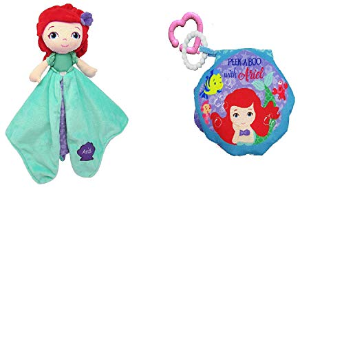 Kids Preferred Disney On The Go Soft Teether Book, and Activity Toy Plush Doll Set (Ariel)
