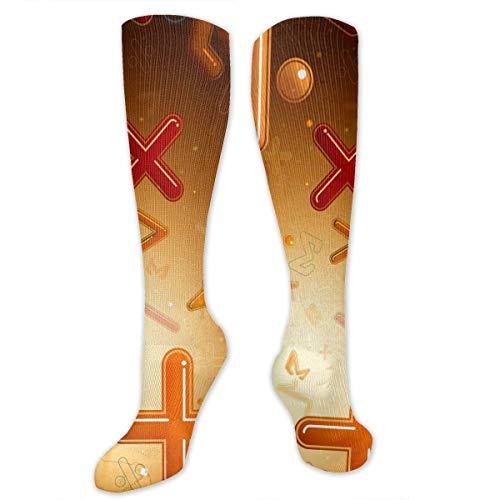 Ashley Lauren Mia Fashion Compression Socks for Women & Men Nurses Runners-Suitable for Ttravel, Pregnant Women, Running, Sports,Varicose Veins-Math Number Formula Equation