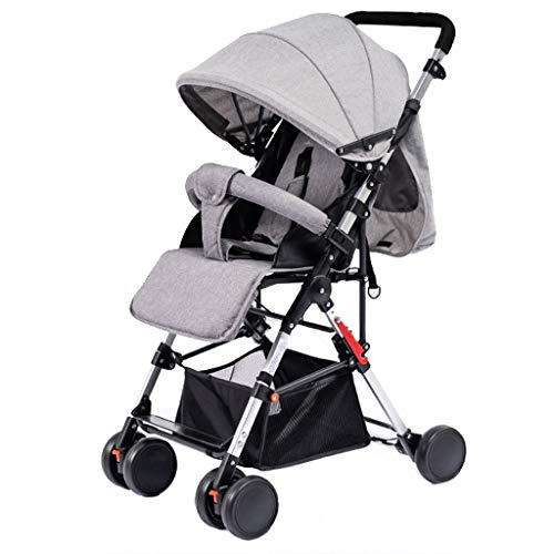 $184.38 Target Infant Car Seats Umbrella Stroller Foldable Pram Infant Pushchair with 5-Point Safety Harness, Multi-Position Reclining Seat, Large Storage Basket, Suspension Wheels 2019