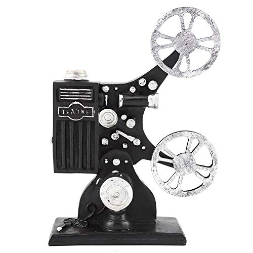 Vintage Resin Figurine Movie Film Projector Model Figure Props for Home Desktop Decor Ornament Gift