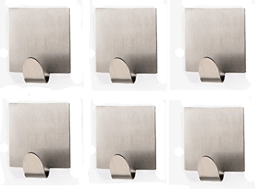Bathroom Self Adhesive Hook for Towel and Robe , 304Stainless Steel (design 6)