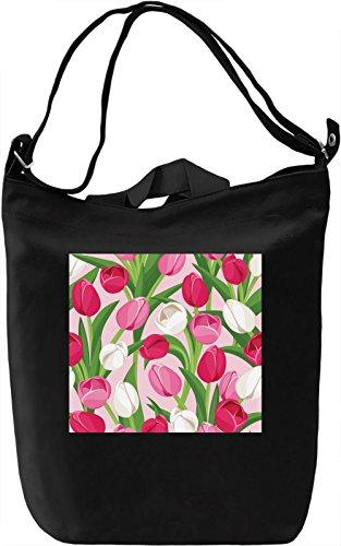 Tulips Texture Borsa Giornaliera Canvas Canvas Day Bag| 100% Premium Cotton Canvas| DTG Printing|