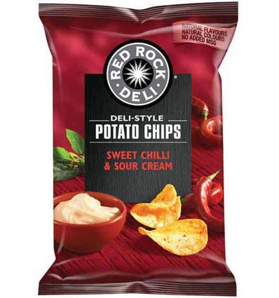 Red Rock Chip Sweet Chilli and Sour Cream 45g x 18 by Red Rock Deli