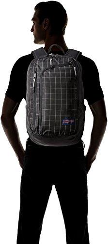 Hombres Bolsas Pack Back Cuadrãcula Jansport Platform Negra 100 Reflectante Polyester qIwqAXY
