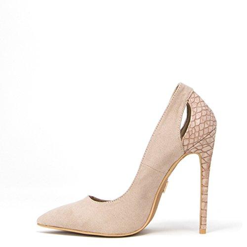 Lost Ink Damen Schuhe Textured Back Court 1001118110140013 Pink powder