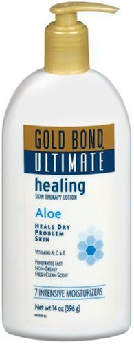 Gold Bond Skin Therapy Lotion, Ultimate Healing Aloe, 14-Ounce Pump (Pack of 2)