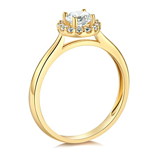14K Yellow OR White Gold Wedding Engagement Ring