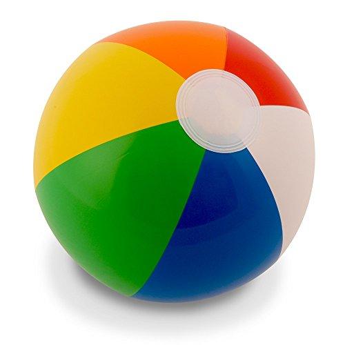 "12"" Rainbow Beach Balls (12 Pack); Inflatable 12pc Beach Ball Pool Toys"