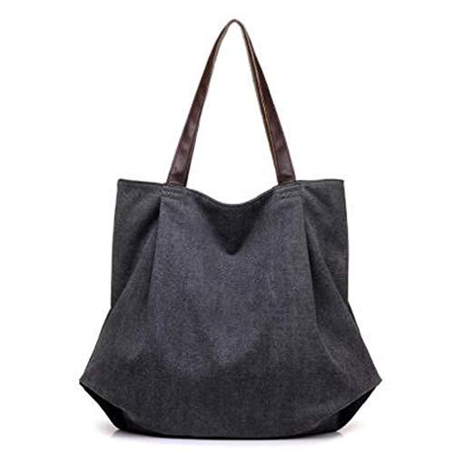 Bags Handbag Tote Canvas Canvas Big Women UKDNCK Simple Female Black Big Style Womens Large Tote Bags Capacity Shopping Beach Bag Eg57q