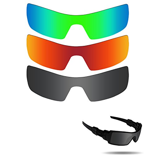 Fiskr Anti-saltwater Polarized Replacement Lenses for Oakley Oil Rig Sunglasses 3 Pair - Oilrig Oakleys