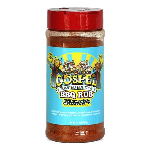 Meat Church Rub & Seasoning 10.5-12oz (Pack of 3) Select Flavor (Holy Gospel BBQ Rub 12oz)